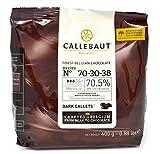 Callebaut N ° 70-30-38 - Finale 70,5% Di Cioccolato Fondente Belga (Callets) 400 G Marrone