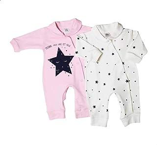 Papillon Long Sleeves Star-Pattern Bodysuit Set for Girls - 2 Pieces