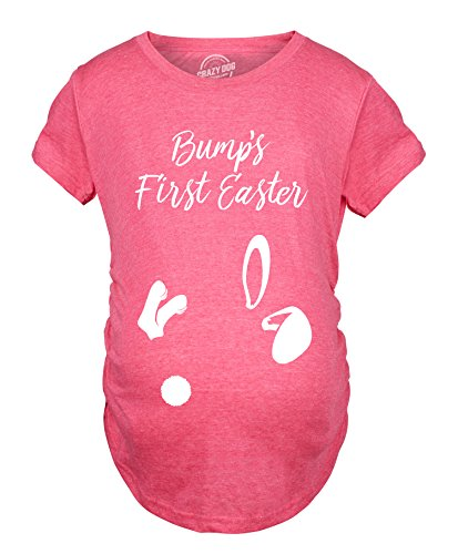 Crazy Dog T-Shirts Maternity Bumps First Easter T Shirt Cute...