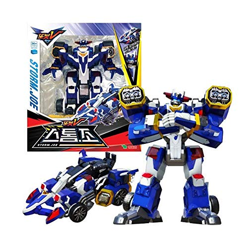 Tobot V YoungToys Storm.Joe Transforming Robot Action Figure Toy for 3 Year Old Boys and Kids, Blue
