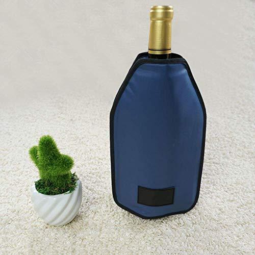 XBR Enfriador de Cubos de Hielo, Bolsa más Fresca, Chaqueta de Hielo para Enfriar rápidamente Botellas de Vino, champán, Cerveza y Agua