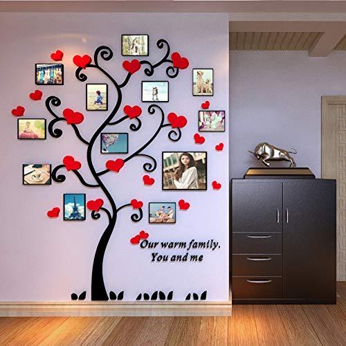 Familie boom fotolijst, 3d acryl muur Sticker met volledige grootte opknoping sjabloon foto muur voor Sof Tv muur achtergrond