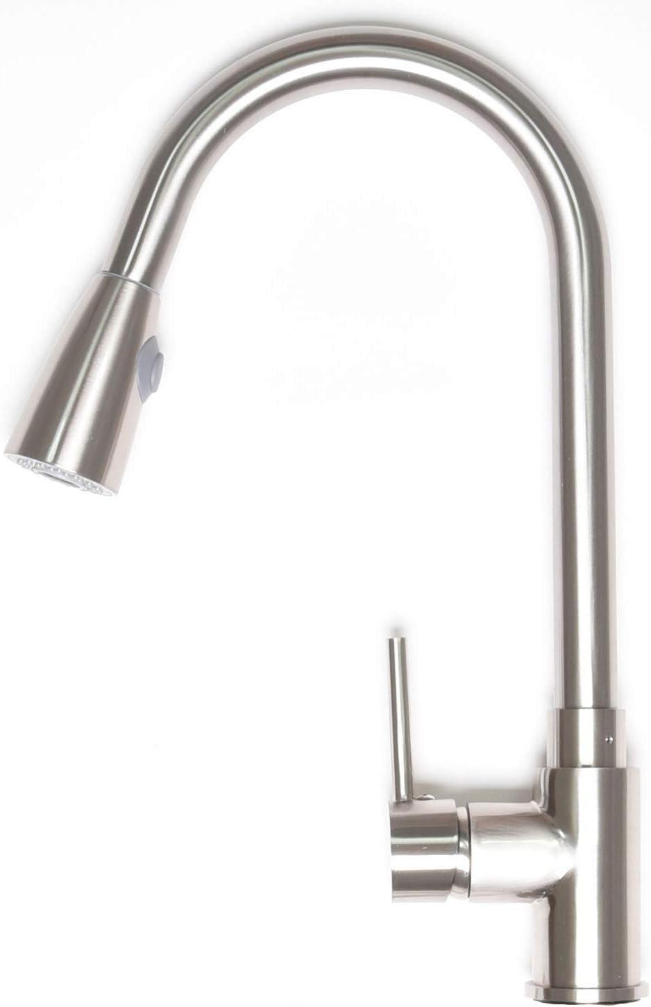 Zenvida Modern Single Max 75% OFF Handle High Kitchen Popularity Arc Down Pull Faucet