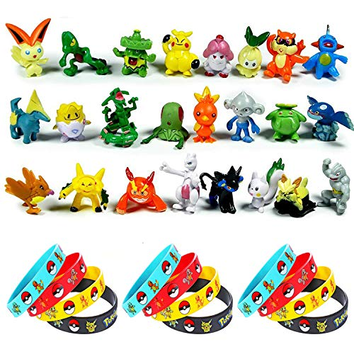 OMZGXGOD - 24 Piezas Pokemon Monster Mini Figure 2-3cm in Random+12 Pi