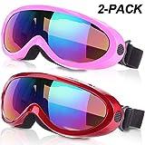 Noorlee anteojos de esquí,gafas de snowboard para...