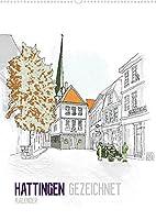 HATTINGEN GEZEICHNET (Wandkalender 2022 DIN A2 hoch): Ein Kalender mit Zeichnungen der Sehenswuerdigkeiten Hattingens (Monatskalender, 14 Seiten )