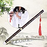 Generic Pluggable Handmade Bitter Bamboo Flute/Dizi Traditional Chinese Musical Woodwind Instrument in F Key for Beginner Study Level