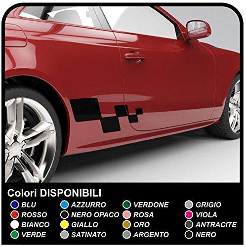 GRAFIC 2X Seitendekor Auto Aufkleber Dekorstreifen Seitenstreifen (SCHWARZ)