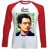 Photo de teesquare1st Men's Gustav Mahler Composer T-Shirt à Manches Longues pour Homme Size XLarge
