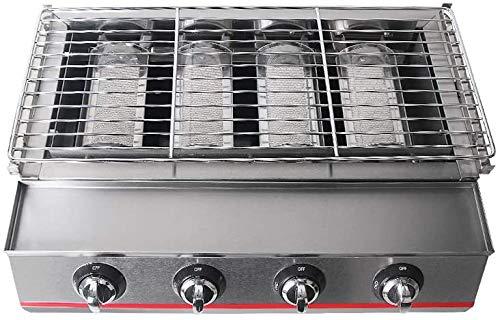 51TqTcjlGHL - NOBRAND Gasgrill 4 Brenner tragbar umweltfreundlich Outdoor Picknick verstellbar Grillrost Edelstahl Tischmaschine Zubehör