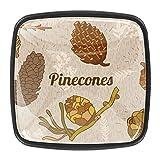 Conos de pino con mango redondo para cocina, armario, puerta, aparador, cajones de 1.18 pulgadas de cristal + ABS para proyectos de bricolaje, cocina, sala de estar, decoración de muebles (juego de 4)