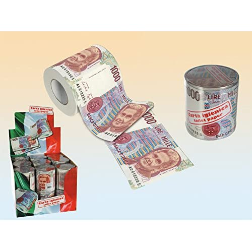 Oob-Carta Igienica Banconota 1000 Lire Lattina Plastica