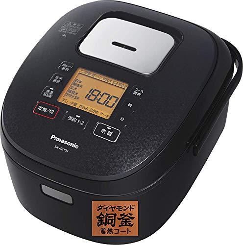 パナソニック 炊飯器 1升 IH式 ブラック SR-HB189-K