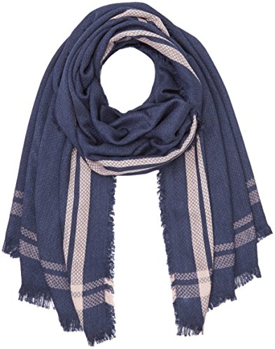 PIECES Damen PCPONNA Long Scarf Schal, Mehrfarbig (Navy Blazer), One Size