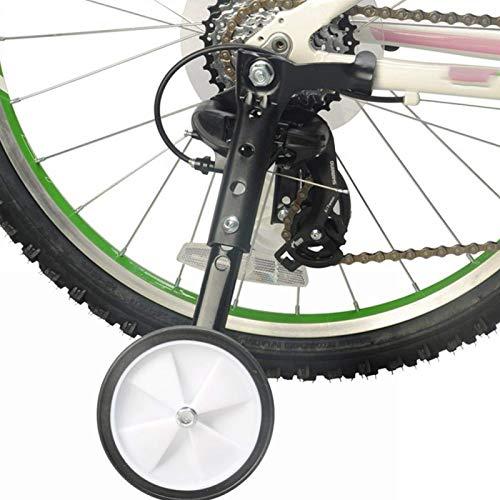 2Pcs Entrenamiento Ruedas, Bicicleta Universal Junior Rueda Estabilizador, Niños Estabilizadores Montado Juego Ajustable Saldo Ayudar A Compatible para De 16 18 20 22 24Inch - Negro, Free Size