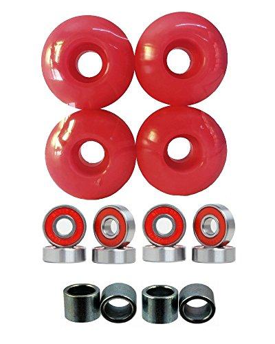 Everland 52mm Wheels w/Bearings & Spacers (Black)