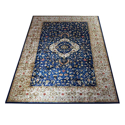 WEBTAPPETI.IT Alfombra de salón de estilo oriental clásico Silk 3578 Heriz azul 140 x 200 cm