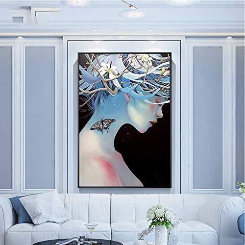 Geiqianjiumai Dragon staart thuis decoratie foto mozaïek patroon kunst olie schilderij frameloze schilderij