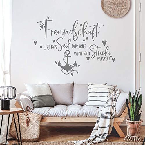 Bilderwelten Wandtattoo - Freundschaft ist das Seil, Farbe:Schwarz 40 x 60cm