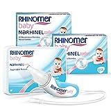 Rhinomer Baby Pack Aspirador Nasal para Bebés y Recambios Blandos Desechables con Filtro Absorbente, pack x2 20 unidades