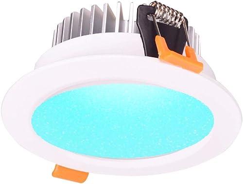 Smart ZigBee RGBW LED Downlight Kit Light Bulb Working with Echo Plus and Compatible ZigBee Bridge and Hub for Smart ...