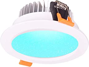 12W Smart ZigBee RGBW LED Downlight Kit Light Bulb for Smart Home Automation Google Home Amazon Echo Dot Echo Plus Alexa Voice Control, Compatible with Echo Plus Hue SmartThings Hub OSRAM Lightify
