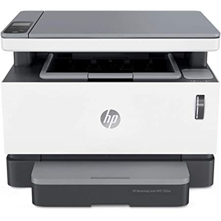 HP Neverstop 1202w All-in-One Wireless Mono Laser Printer with Cartridge-Free Toner Tank, comes with up to 5,000 pages of toner in the box (5HG92A)