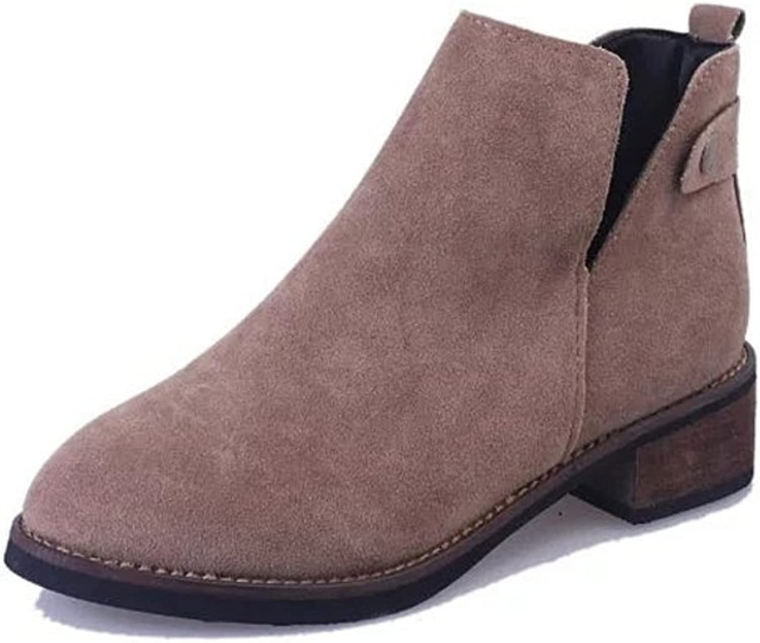 RHFDVGDS Retro tipped Martin Ji Yinglun wind in autumn and winter boots low ankle boots Scrubs and naked boots