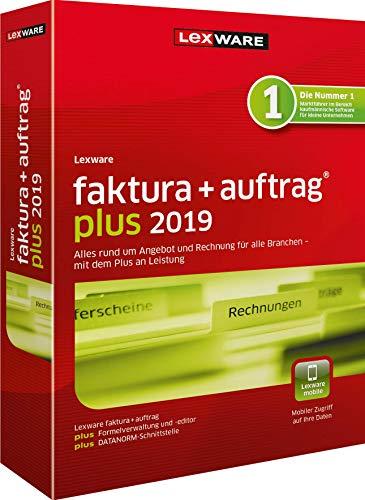 Lexware faktura+auftrag 2019|plus-Version Minibox (Jahreslizenz)|Einfache Auftrags- und Rechnungs-Software für alle Branchen|Kompatibel mit Windows 7 oder aktueller