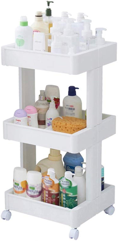Kitchen Shelf - Japanese Plastic Multilayer Vegetable Fruit Rack Movable Floor Stand (Size   3-Tier)