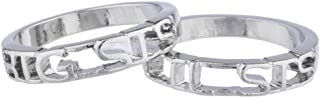 Lux Accessories Big Sis Lil Sis Sisters BFF Best Friends Ring Set 2PC