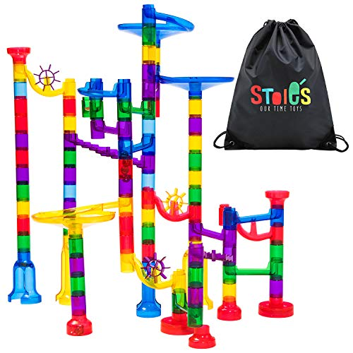 Stoie's 109-Piece Marble Run Set -...