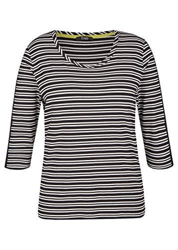 Frapp - Camiseta deportiva para mujer con anillas Color negro y blanco. 56