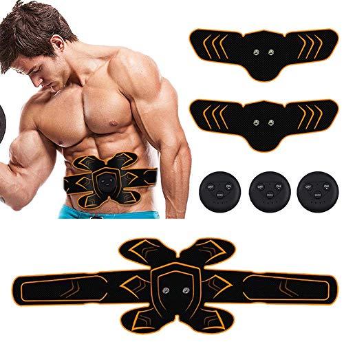 YLLN Bauchmuskeltrainer Massagestimulator Körper Schlankheitsmaschine Arm Bauchtrainer Elektrischer Builder Stimulator für Mann Frau