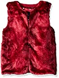 Tommy Hilfiger Big Girls' Faux Fur Vest, Red Berry, Small/7