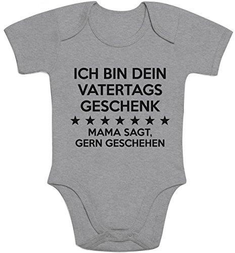 Shirtgeil Ich Bin Dein Vatertagsgeschenk Mama SAGT Gern Geschehen Baby Kurzarm Body 12-18 Months Grau