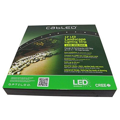Optiled New Cabled 12 FT. LED Landscape Lighting Strip 12V Starter Kit