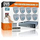 UltraHD - Set de videovigilancia 4K con grabadora y cámara Domo IP PoE 8X 4K