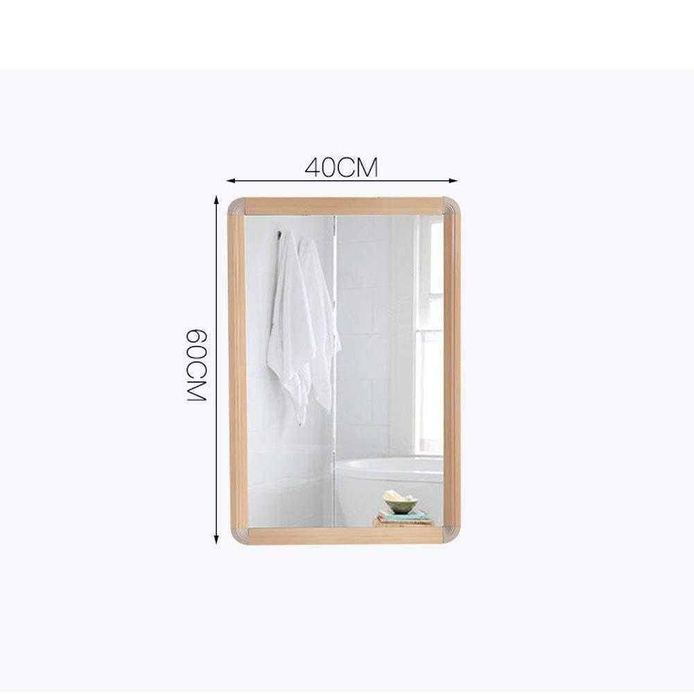 Baño de Madera Maciza Feng Shui Espejo Gabinete Inodoro Baño Invisible Tocador Espejo Espejo de baño Moda de Pared (Tamaño: 40X60CM): Amazon.es: Hogar