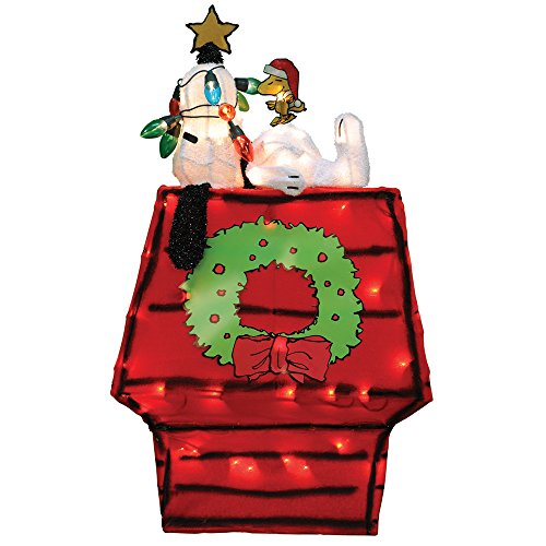 Peanuts 60389 26' 3D Prelit Yard Art Snoopy On Dog House with Star
