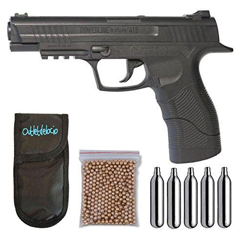 Outletdelocio. Pistola Perdigón Daisy 415 4,5mm. + Funda Portabombonas + Balines + Bombonas co2. 23054/29318/13275