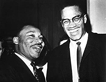 Martin Luther King Jr and Malcolm X Photo Print  10 x 8