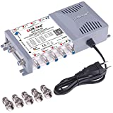 DUR-line DCS 552-16 Unicable-Multischalter für 32 Teilnehmer - Made in Germany - für Quattro oder 2X Wideband LNB - 2 x 16 SCR/DCSS User Bands - kaskadierbar [Digital, HDTV, FullHD, 4K, UHD]