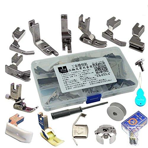 Pies prensadores, agujas, bobinas y tornillos para máquina de coser - 17 estilos
