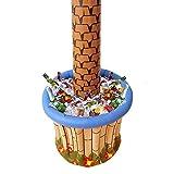 Widmann 2408P - Aufblasbare Palme, mit Getränkekühler, zum Befüllen mit Eis und Wasser, Höhe ca. 182 cm, Durchmesser ca. 64 cm, Beachparty, Motto Party - 2