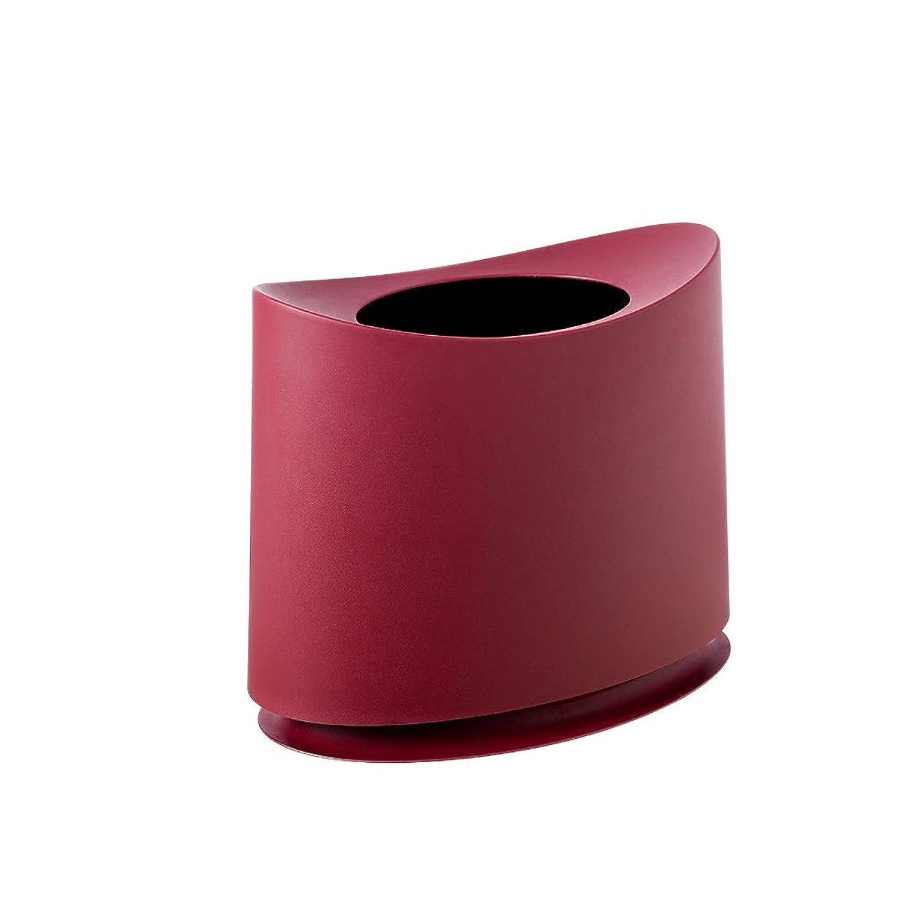 現実にはちょうつがい要件フタ付きゴミ箱 バスルームのゴミ箱シンプルなカバー北欧クリエイティブトイレリビングルームかわいい寝室シンプルな紙の家 (Color : Red, Size : 10l)