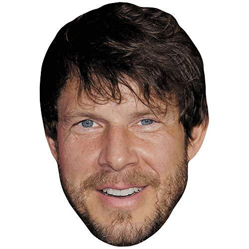 Celebrity Cutouts Eric Mabius (Beard) Big Head. Larger than life mask.