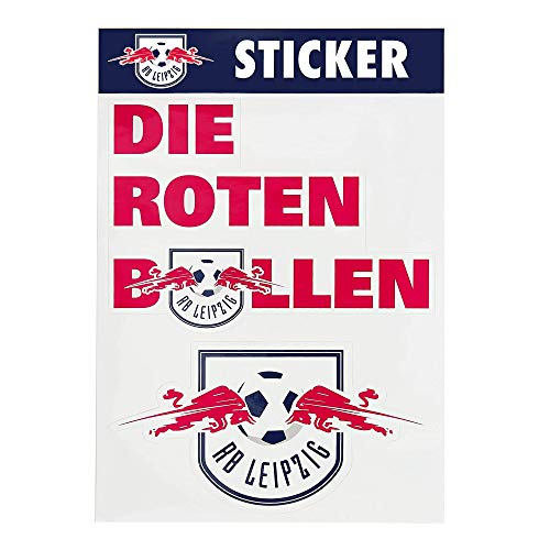 RB Leipzig Mix Sticker Set, Weiß Unisex One Size Aufkleber, RasenBallsport Leipzig Sponsored by Red Bull Original Bekleidung & Merchandise