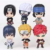Anime Statue Model6 Piezas/Set Naruto Shippuden Naruto Kakashi Sasuke Itachi Gaara Colección de PVC ...