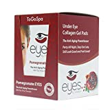 Pomegranate EYES by ToGoSpa – Premium Anti-Aging Collagen Gel Pads for Puffiness, Dark Circles, and Wrinkles – Under Eye Rejuvenation for Men & Women - 10 Pack – 30 Pairs